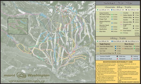 Trail Map in all it's trail glory