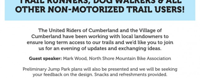 Cumberland Trail Forum – March 5th